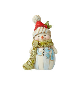 Jim Shore Mini Snowman  with Pom Pom