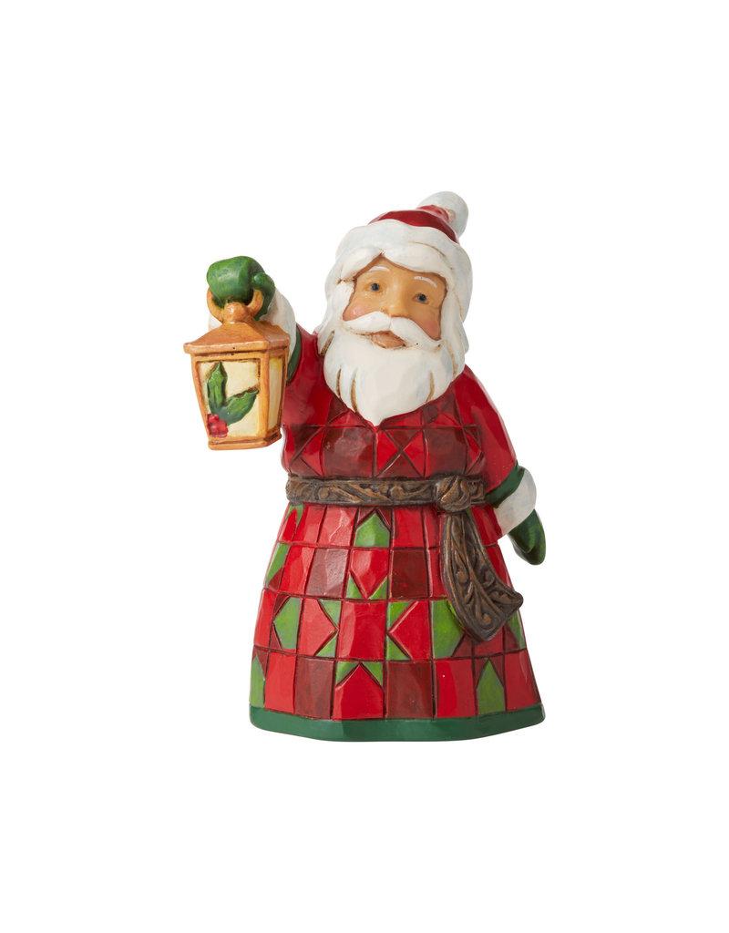 Jim Shore Mini Santa with Lantern