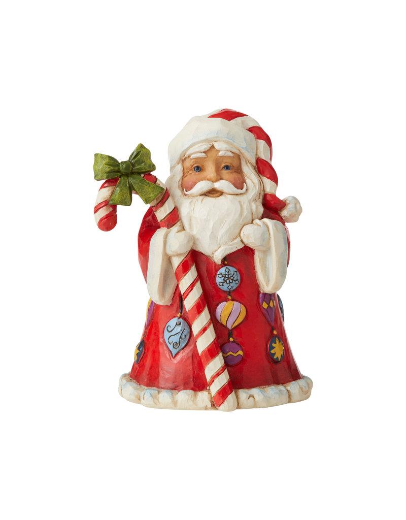 Jim Shore Mini Santa with Candy Cane