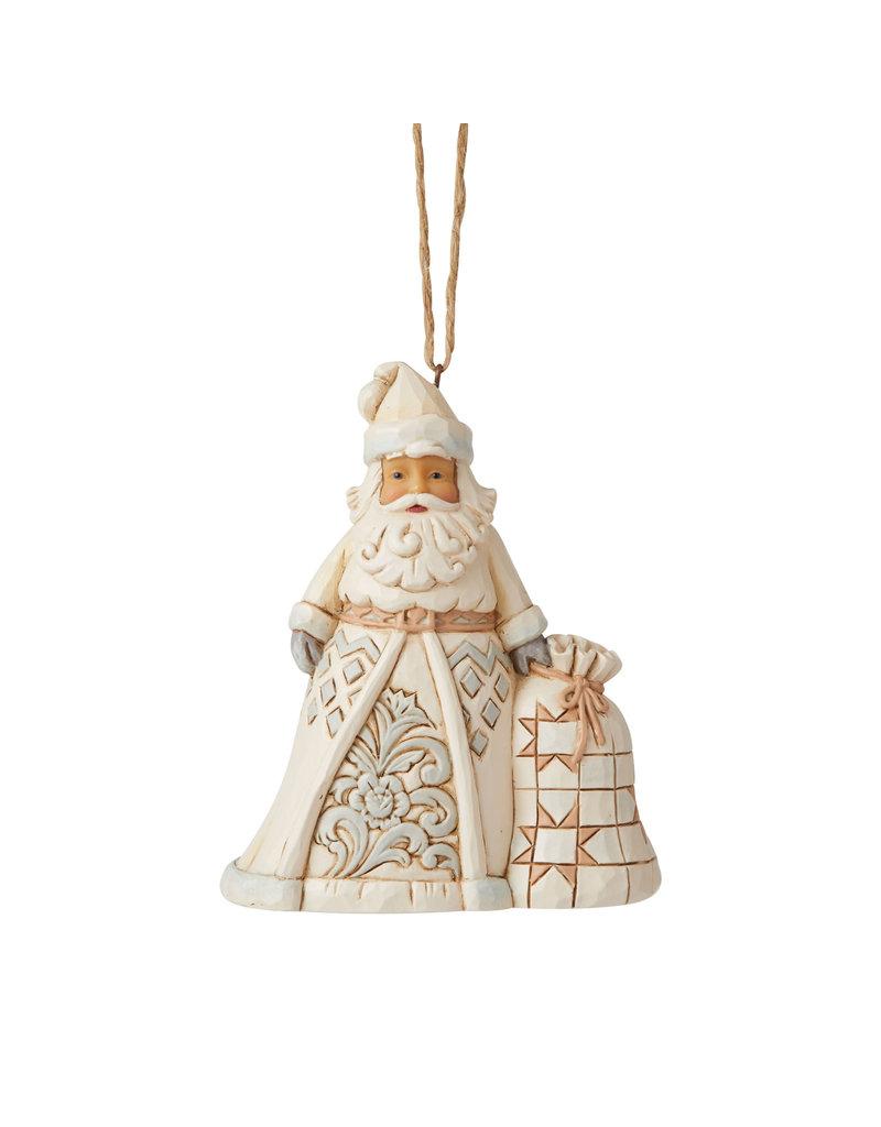 Jim Shore Woodland Santa w Toy Bag Ornament