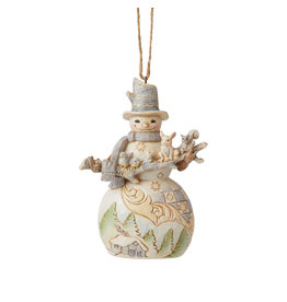 Jim Shore Woodland Snowman with Animals Ornament