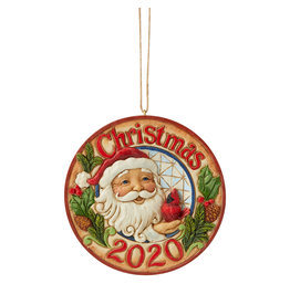 Jim Shore 2020 Santa with Cardinal Ornament