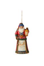 Jim Shore Lapland Santa with Lantern Ornament