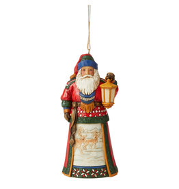 Jim Shore Lapland Santa with Lantern Ornament