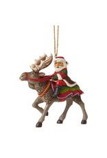 Jim Shore Santa Riding Moose Ornament