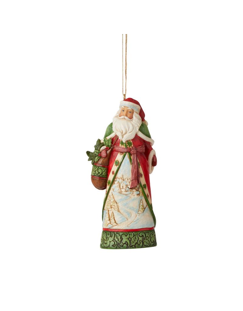 Jim Shore Santa with Winter Scene Ornament