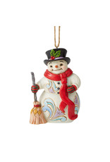 Jim Shore Snowman with Long Scarf Ornament