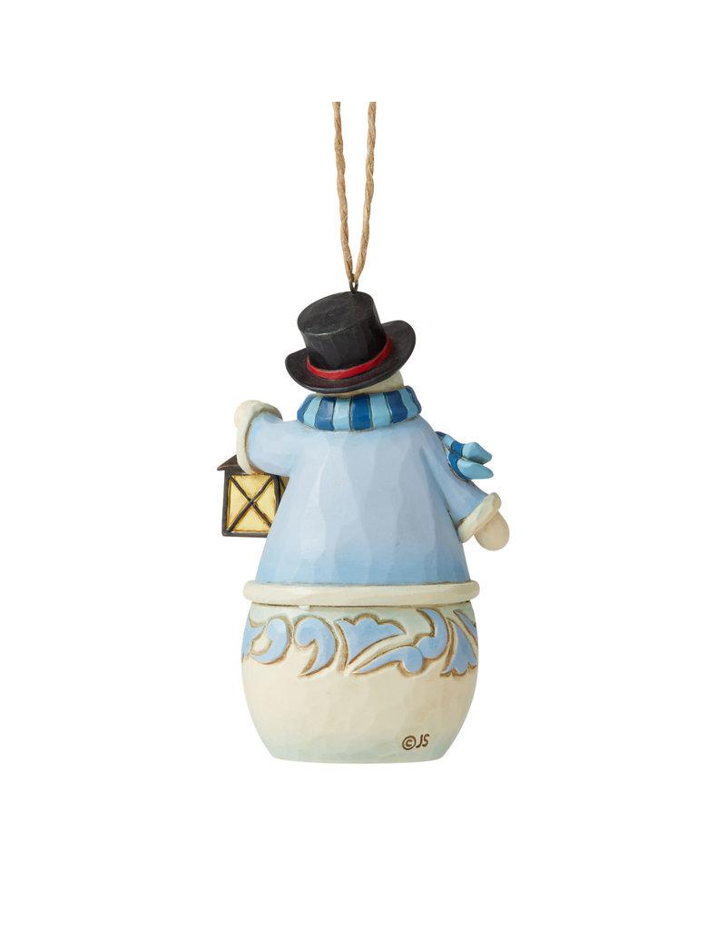 Jim Shore Snowman with Village Scene Ornament