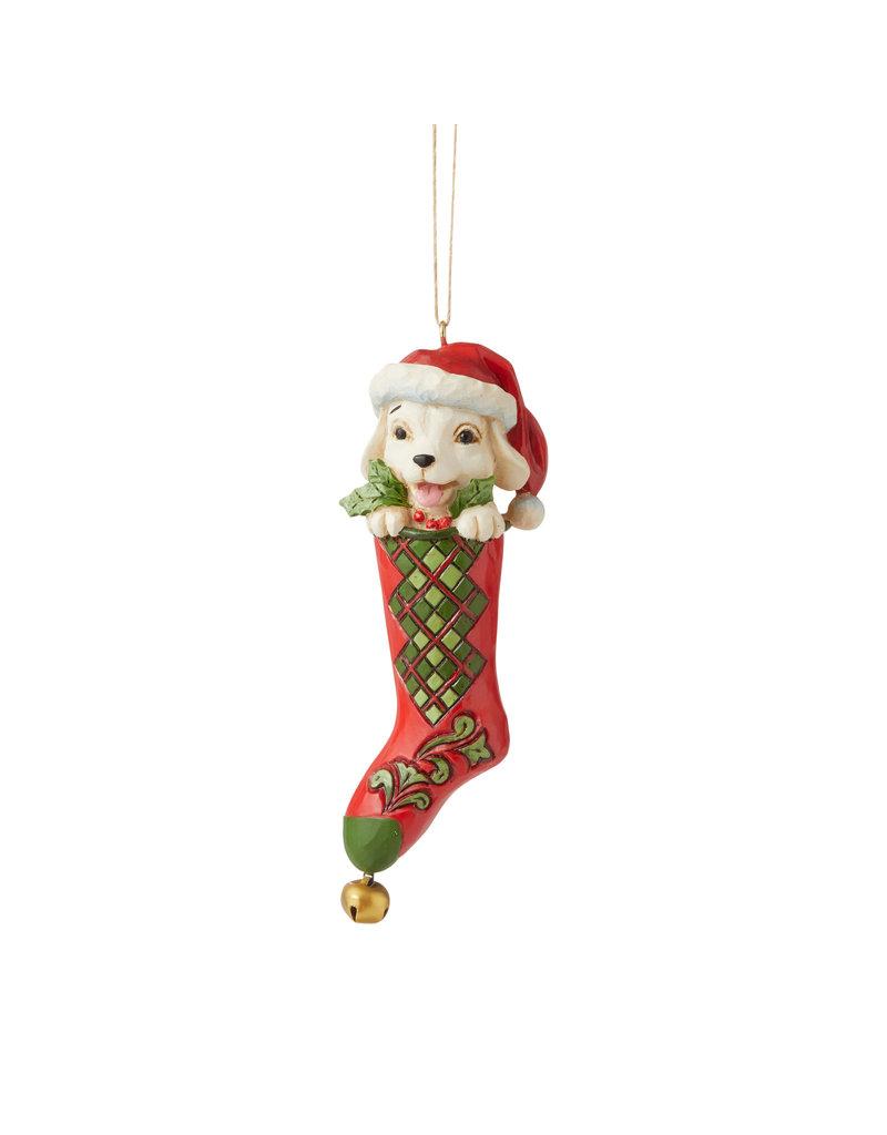 Jim Shore Dog in Stocking Ornament