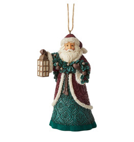 Jim Shore Victorian Santa with Lantern Ornament