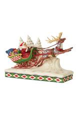 Jim Shore Here Comes Santa