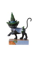 Jim Shore Mini Walking Black Cat