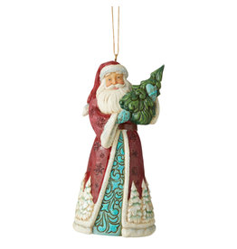 Jim Shore Wonderland Santa with Tree Ornament