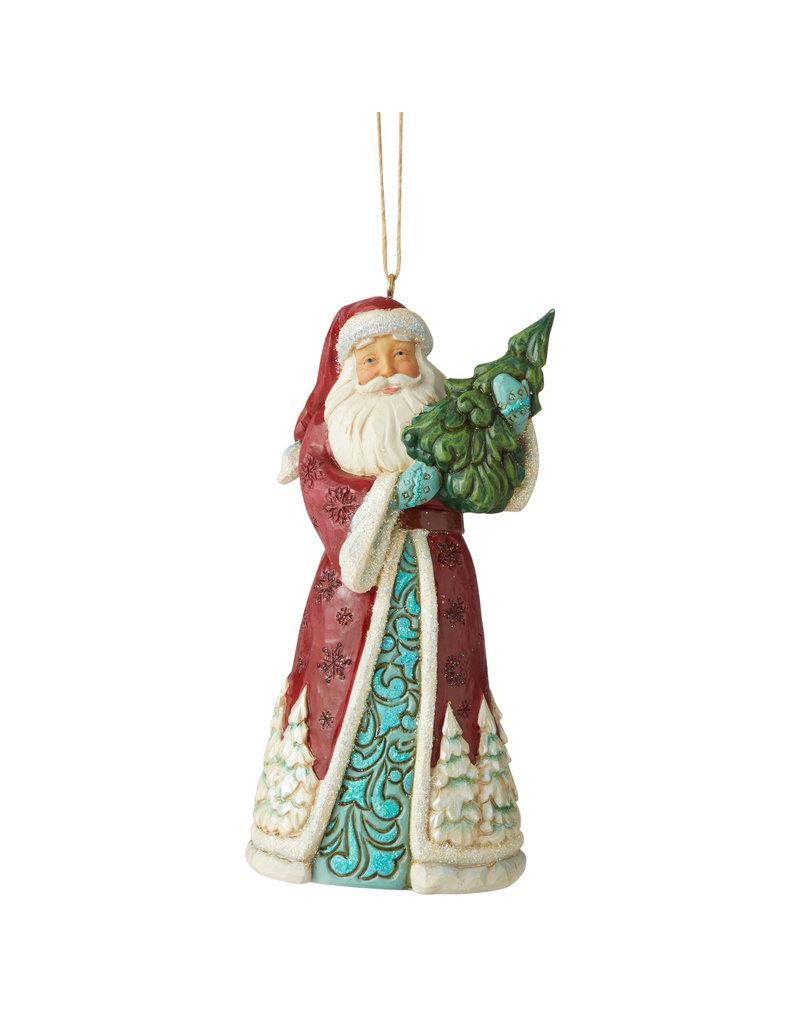 Jim Shore Wonderland Santa with Tree Ornament
