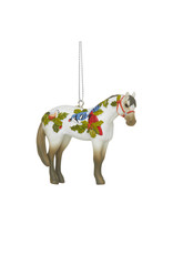 Trail of Painted Ponies Winter Feathers Ornament