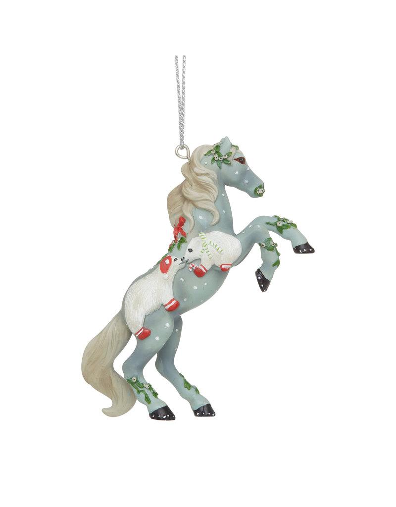 Trail of Painted Ponies Mistletoe Kisses Ornament