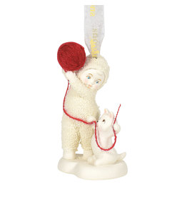 Snowbabies Cat's Play Ornament