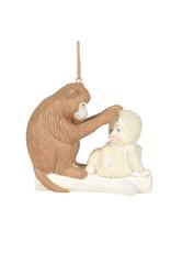 Snowbabies Peaceful Kingdom Monkey Ornament
