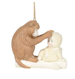 Snowbabies Peaceful Kingdom Monkey Ornament