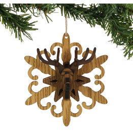 Christmas Crafts Deer Head on Snowflake