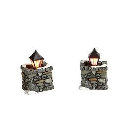 Limestone Lamps for Department 56 Village