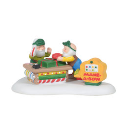Department 56 Make a Bow Machine for North Pole Village