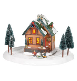 Department 56 Winter Wonderland Cabin for Snow Village