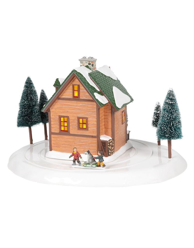 Department 56 Winter Wonderland Cabin for Snow Village