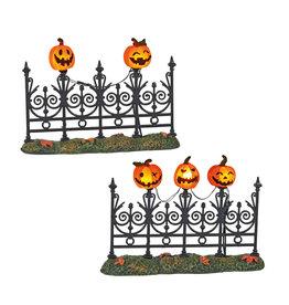 Department 56 Jack o Lantern Lit Fence for Halloween Village