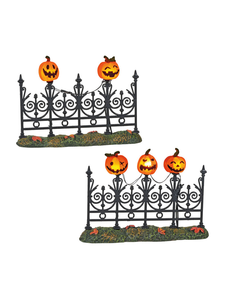 Department 56 Jack o Lantern Lit Fence for Halloween Village