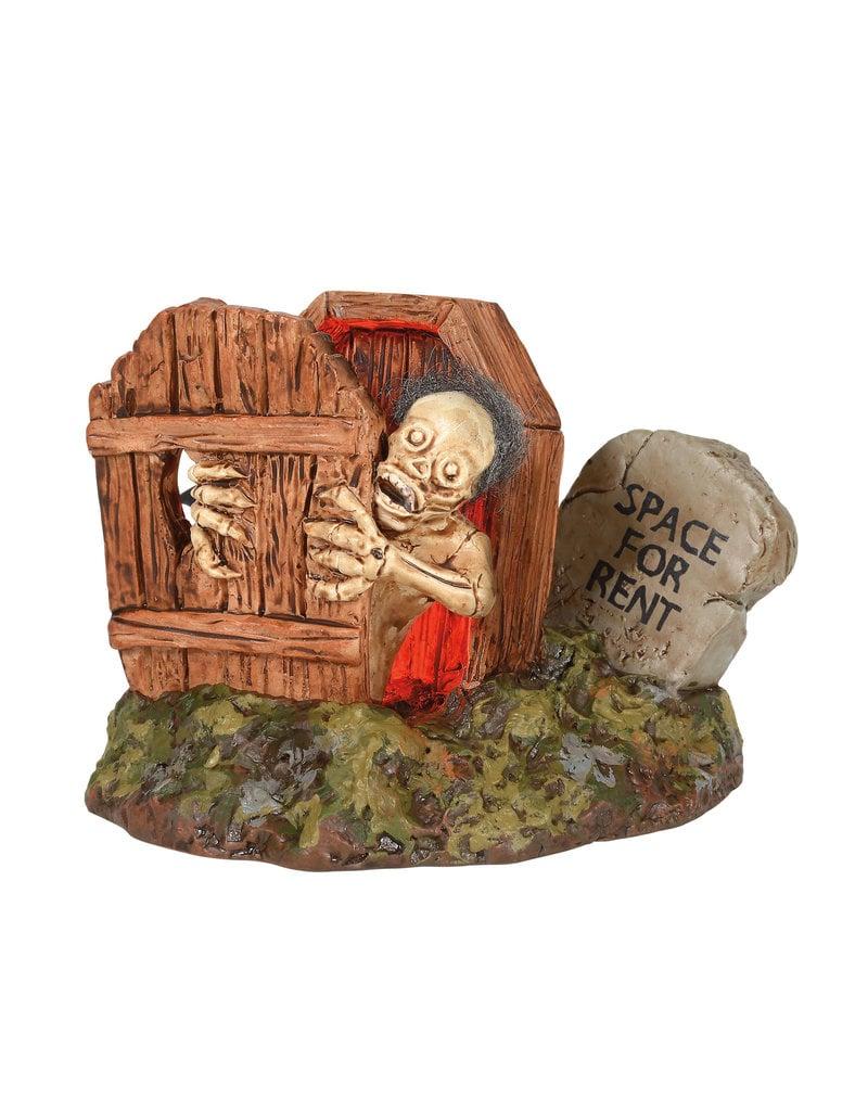 Department 56 Lit Haunted Exit for Halloween Village