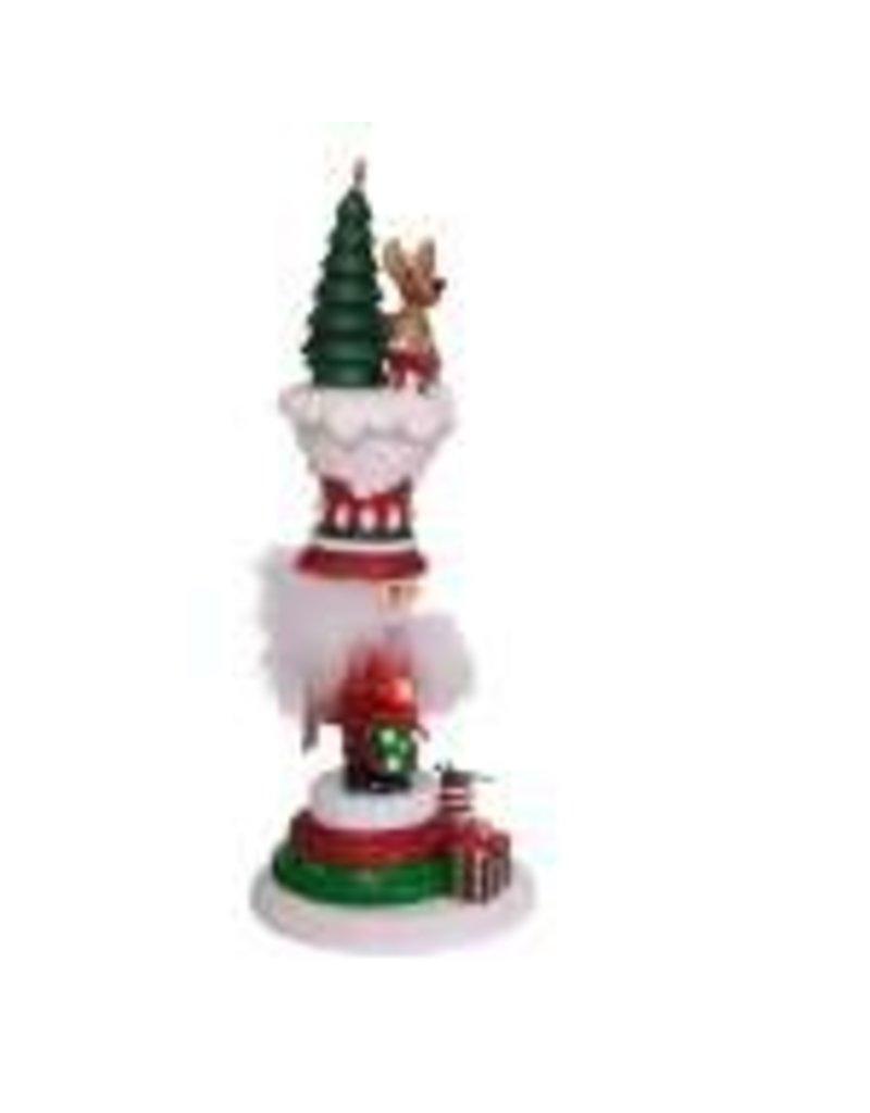 Santa's Happy Reindeer Nutcracker