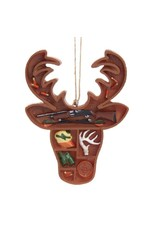 Deer Head Supply Box Ornament