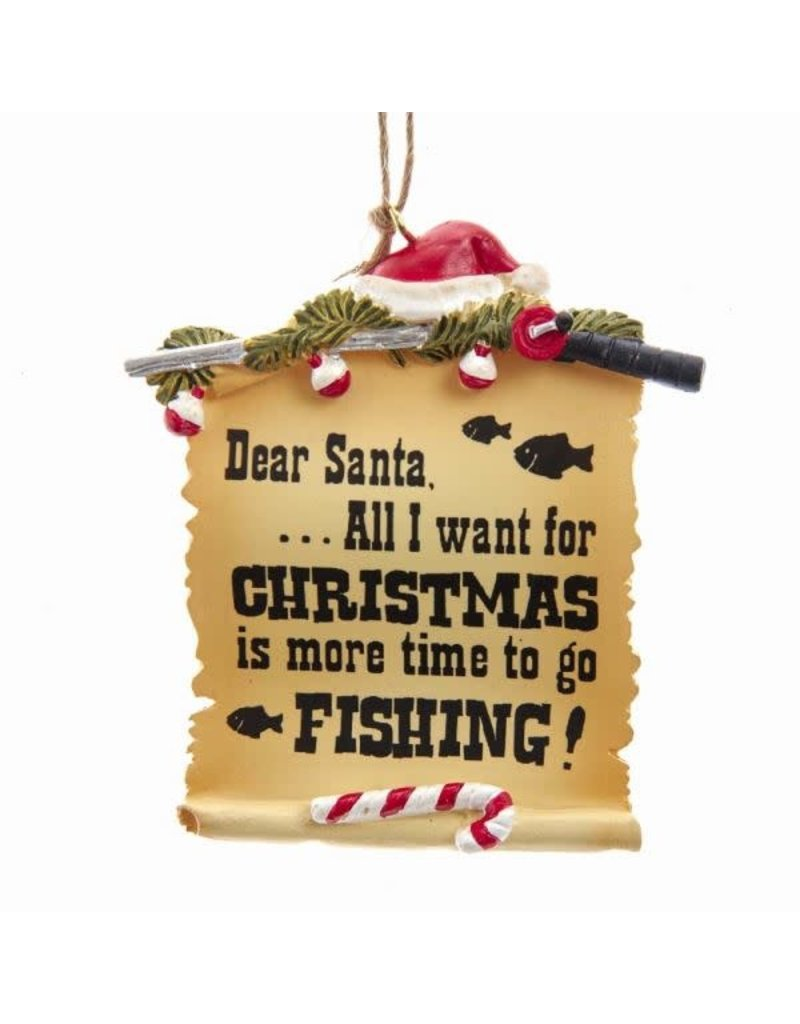 Fishing Letter to Santa Ornament