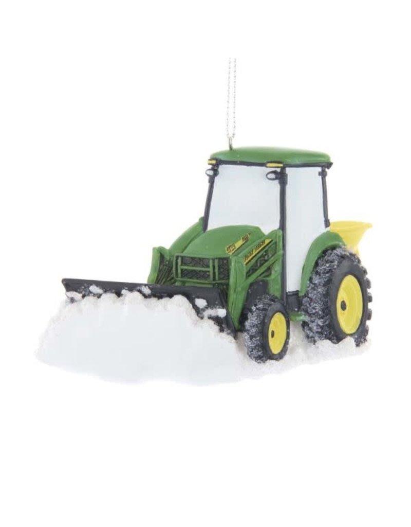 John Deer Tractor Plowing Snow