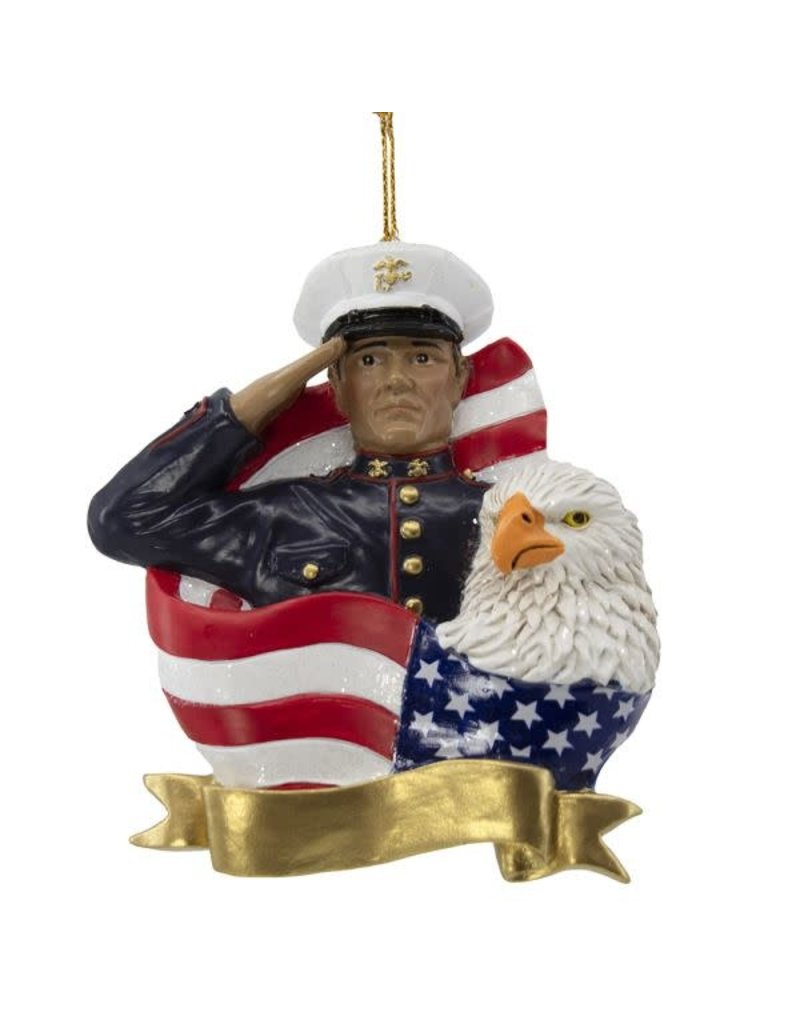 Marine Salute Ornament
