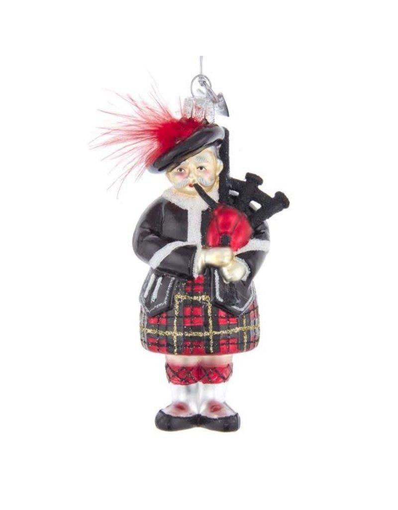 Noble Gems Scottish Bagpiper Ornament