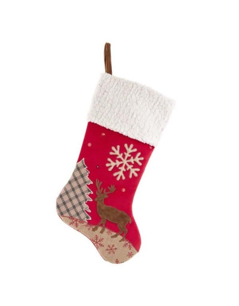 Velvet Reindeer Stocking