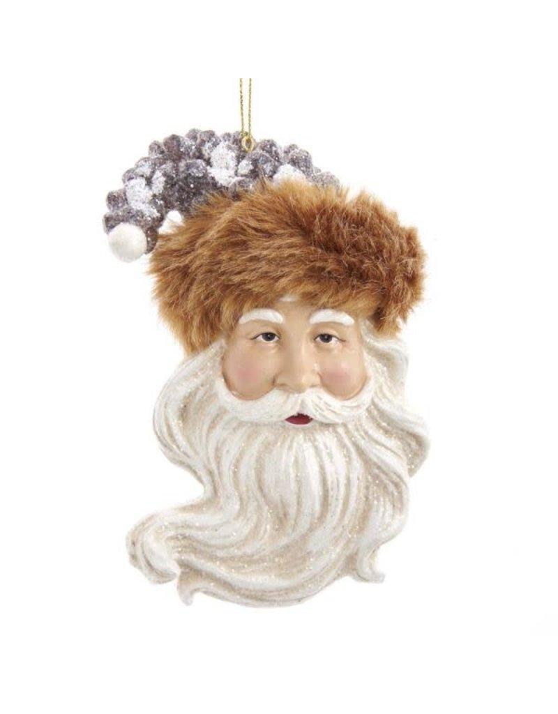 Forest Friends Santa Head Ornament