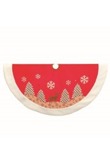 Velvet Reindeer Treeskirt
