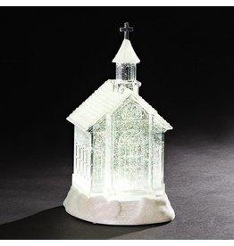 Snowy Church Shimmer