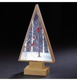 Wood Cardinal Tree Lantern