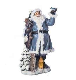 Lit Midnight Frost Santa