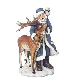 Midnight Frost Santa with Reindeer