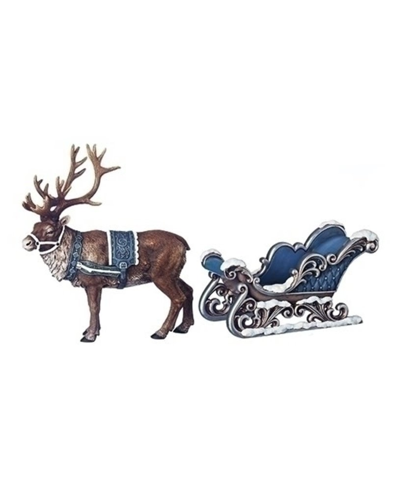 Midnight Frost Deer with Sleigh S2