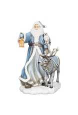 Northern Ice Santa with Reindeer