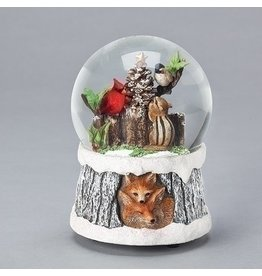 Chipmunk and Birds Snowglobe