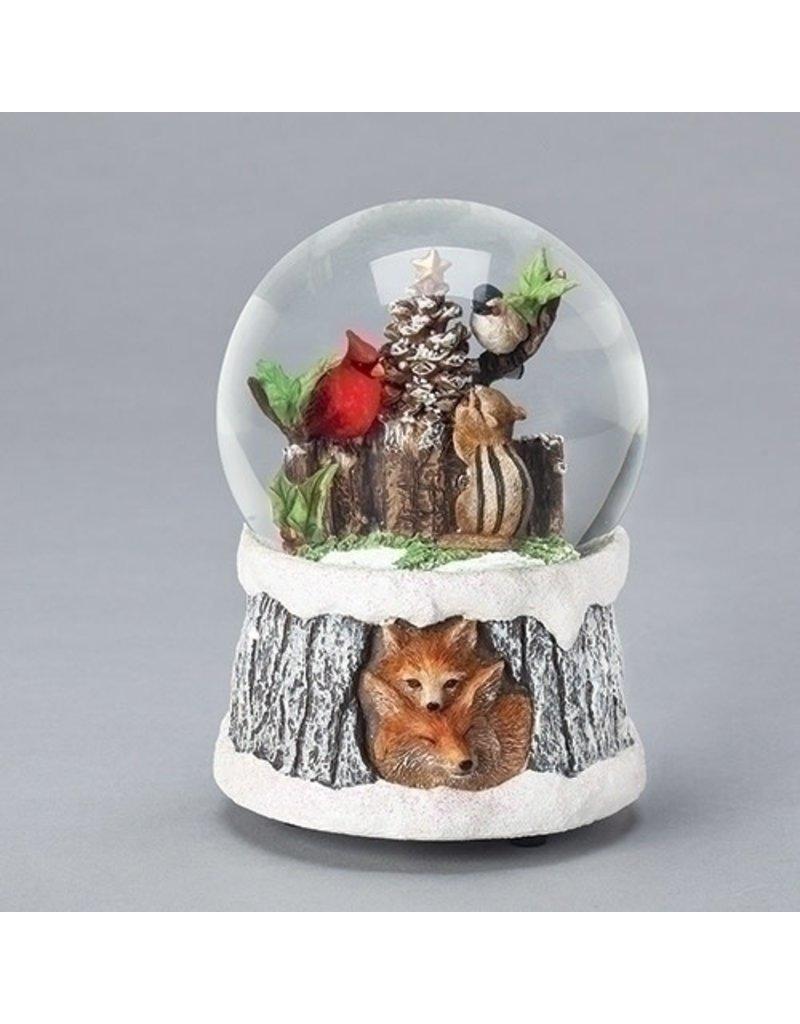 Chipmunk and Birds Snowglobe