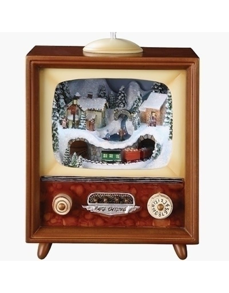 Vintage Musical TV with Train