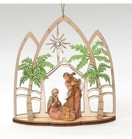 Fontanini Lasercut Holy Family Triptych Ornament